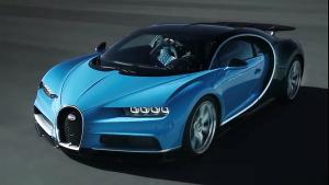 最快量产车布加迪Chiron 搭8.0T发动机