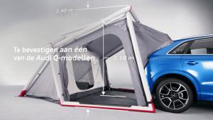 奥迪Q3野营帐篷 可直接与后备箱连接