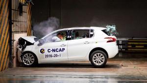 C-NCAP碰撞测试 东风标致308S获5星