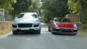 同门相争 保时捷911竞速PK卡宴Turbo S