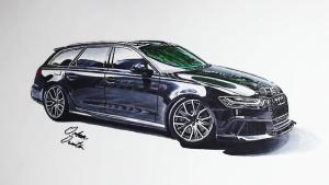 奥迪RS6 Avant 三分钟手绘百万豪车