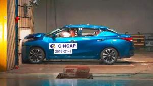 C-NCAP碰撞测试 东风日产新蓝鸟获5星