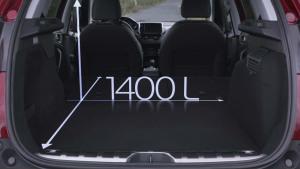 新款标致2008 后备厢最大容积1400L