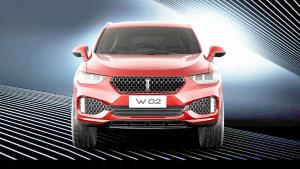 WEY W02概念车 搭配多彩智能氛围灯