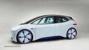 大众I.D.概念车外观展示 设计简洁科幻