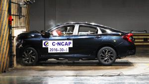 C-NCAP碰撞测试 2016款东本思域荣获5星