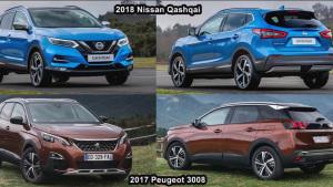 紧凑SUV之争 2017款3008对比2018款逍客