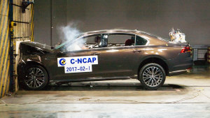 C-NCAP碰撞测试 上汽大众辉昂获5星