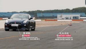 日产GT-R较量无人机 100km加速仅1.3秒