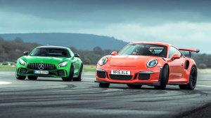 保时捷911 GT3 动态对比奔驰AMG GT R