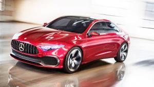 奔驰A级概念轿车 外形犀利比例完美