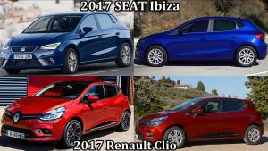 2017款西雅特伊比飒对比2017款雷诺Clio
