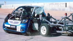 2017款smart fortwo NHTSA侧面碰撞测试