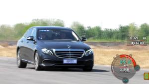 奔驰E320L行政级轿车 刹车测试