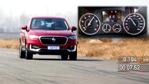 2017款宝沃BX5紧凑级SUV 赛道加速实测