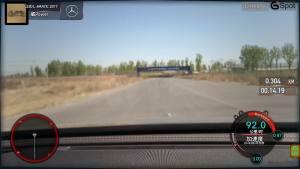 奔驰E320L行政级轿车 刹车测试车内视角
