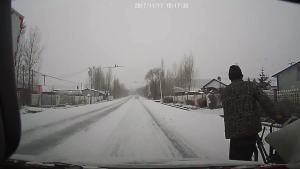 纯纯的东北雪天行车啊