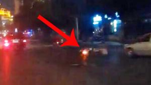 路口电单车与小车事故