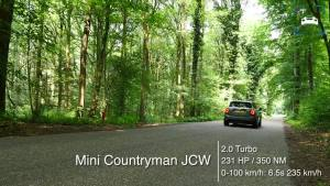 2017 MINI Countryman JCW 231马力 0-237km-h 加速度