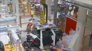 汽车工厂之宝马i系列的新能源车的生产过程!