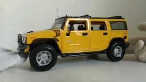 悍马H2车模展示