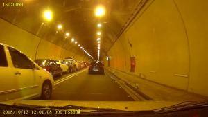 20181013隧道发生一连串汽车连环车祸