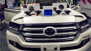 西安全新丰田酷路泽无损音响改装升级解决方案