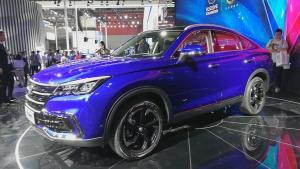 中国最美轿跑SUV亮相广州车展, 长安CS85新潮品、好型