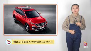 搭载CVT变速箱 2019款宝骏530正式上市