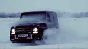 奔驰G63如勇士似猛兽,魅力非凡征服茫茫雪地