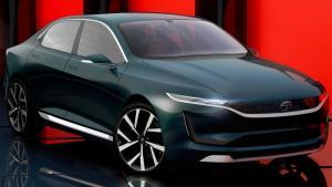 最新概念电动轿跑:塔塔Evision