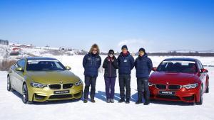 零下30°驾驶宝马M冰雪漂移 女司机这是要上天啊!