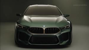宝马豪华概念车M8 Gran Coupe