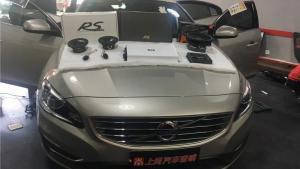 高端车配高端货 西安沃尔沃S60汽车音响改装施工现场