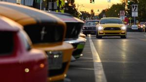 2018 美国伍德沃德梦幻巡游福特 Mustang 巷盛况