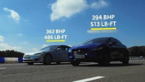 短程加速比拼:特斯拉Model S 75D VS 捷豹I-Pace