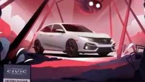 思域最新宣传片,片中的结尾部分锁车镜头很有创意