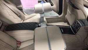 19款奔驰迈巴赫S450升级后排扶手四座折叠小桌板案例