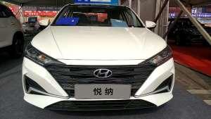实拍2020款全新北京现代-悦纳,售价7.28万~9.68万的小型车