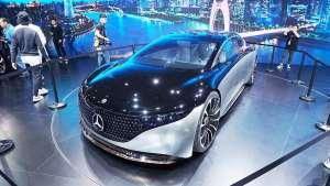 【2019广州车展】比Model S还能跑?奔驰Vision EQS国内首发