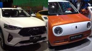 长城展台哈弗F7x轿跑SUV,软萌欧拉R1女神版年轻活力