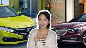 15万预算德系日系轿车,朗逸PK思域,外观动力对比