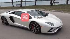兰博基尼 Aventador S 在迈阿密室外出现