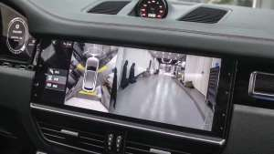 新款保时捷卡宴升级原厂环视360全景影像效果展示