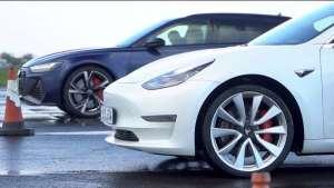 奥迪RS 6对比特斯拉 Model 3高性能版 内燃机与电机的终极较量