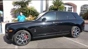 库里南黑标:踩羊羔毛喝冰镇香槟看流星在车顶划过