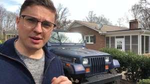 方灯造型罕见,美国小哥介绍他家的老Jeep牧马人