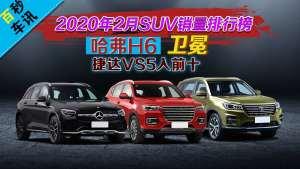 【百秒车讯】2020年2月SUV销量排行榜,哈弗H6卫冕捷达VS5入前十