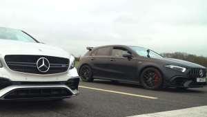 新老AMG A 45直线加速对比 竟然差距有那么大?