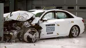 奥迪A4碰撞测试,来看看德国车表现如何?